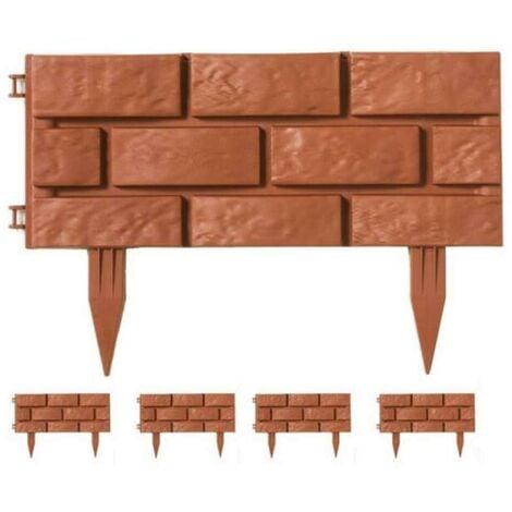 Bordures de jardin imitation brique - lot de 24