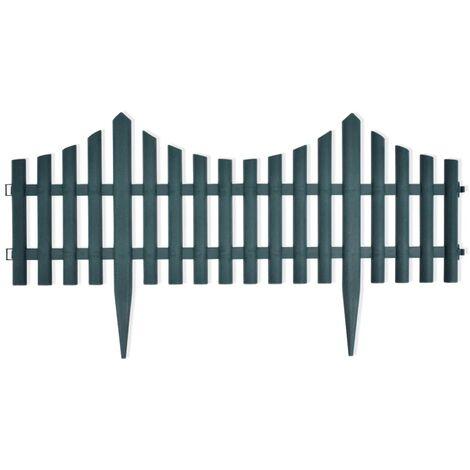 Bordures de pelouse 17 pcs 10 m Vert