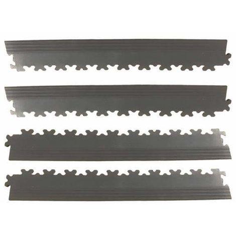 BORDURES MOSAIK PVC Noir - GARAGE, ATELIER - Épaisseur 7mm