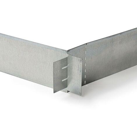 bordurette de jardin flexible - métal gris - 5 m