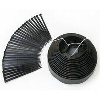 Bordurette de jardin flexible noire 10 M avec 30 piquets d'ancrage