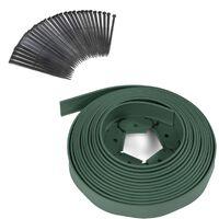 Bordurette de jardin flexible verte 10M avec 30 piquets d'ancrage