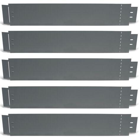 Bordurette de jardin x5 acier gris anthracite flexible L. 5 x H. 0.14 M