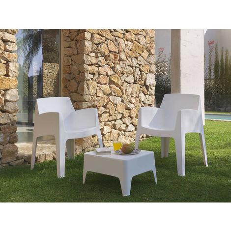 Borgo - Salon bas de jardin 2 places - en résine injectée blanche Couleur - Blanc - Blanc