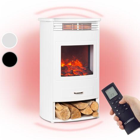 Bormio WH cheminée électrique 950 / 1900W thermostat minuterie hebdomadaire blanche