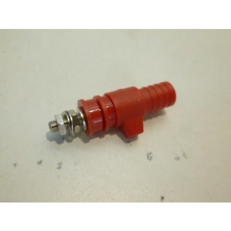 Borne à prise arrière de sécurité Ø 4mm 32A 1000V rouge pour connexion fiche banane LEGRAND 032904