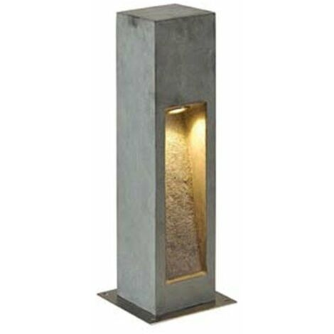 Borne Arrock Stone LED 50 - Gris - 9W - Non variable - Avec ampoule