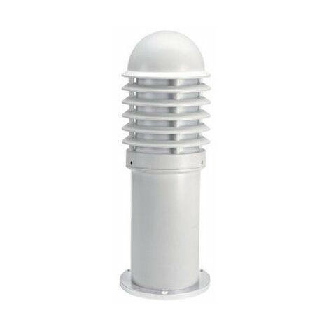 Borne CALEO 1 Basse Aluminium Blanc - E27 - 100W - Ampoule non fournie