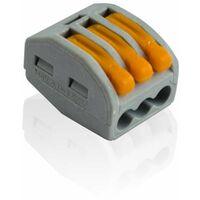 Borne de connexion électrique 3 fils type WAGO 222-413