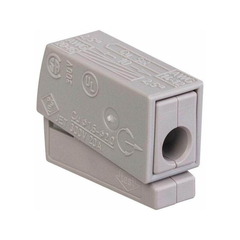 25 Bornes de connexions automatique 1 Fil Souple 1 Fil Rigide Wago réf 224-101