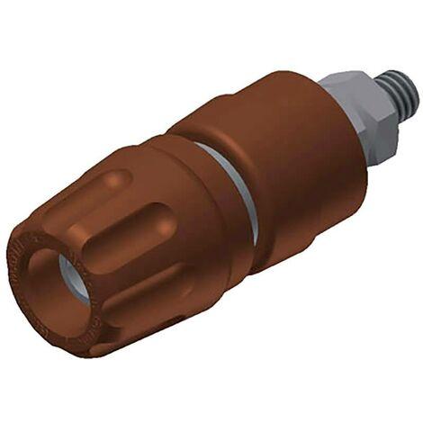 Borne de polarité Ø stylo (détails): 4 mm SKS Hirschmann PKI 10 A 930103105 marron 35 A 1 pc(s) W27290