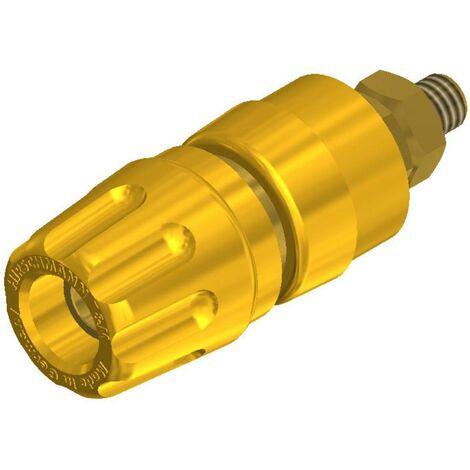 Borne de polarité Ø stylo (détails): 4 mm SKS Hirschmann PKI 10 A Au 930103703 jaune 35 A 1 pc(s)