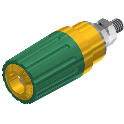 Borne de polarité Ø stylo (détails): 4 mm SKS Hirschmann PKI 100 930757188 jaune, vert 35 A 1 pc(s) D22056
