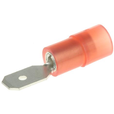 Borne de prise à sertir, RS PRO, Isolé, 0.5 x 4.75mm, Rouge