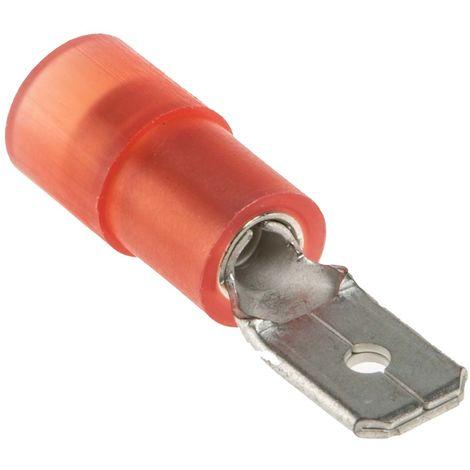 Borne de prise à sertir, RS PRO, Isolé, 4.75 x 0.8mm, Rouge
