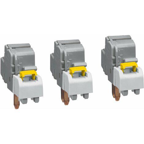 Borne de raccordement à connexion auto (3) - section 6 à 25 mm² - IP 2x