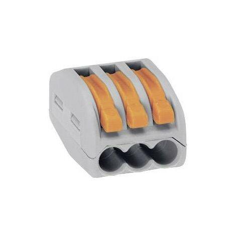 """main image of """"Borne de raccordement WAGO 222-413-1 flexible: 0.08-4 mm² rigide: 0.08-2.5 mm² Nombre de pôles (num): 3 gris, orange 1 pc(s) S55241"""""""