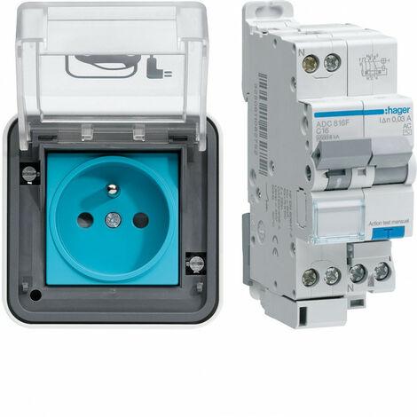 Borne de recharge véhicule électrique Witty IP55 avec protection différentielle (XEV080P)