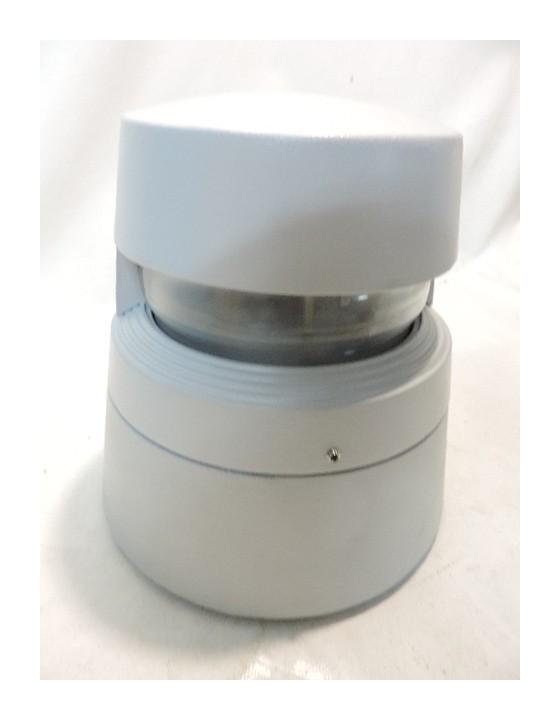Side Lighting - Borne extérieure alu grise Ø 238X232mm monodirectionnel lampe iodure 35W G12 (non incl) ballast IP67 ROK E8401