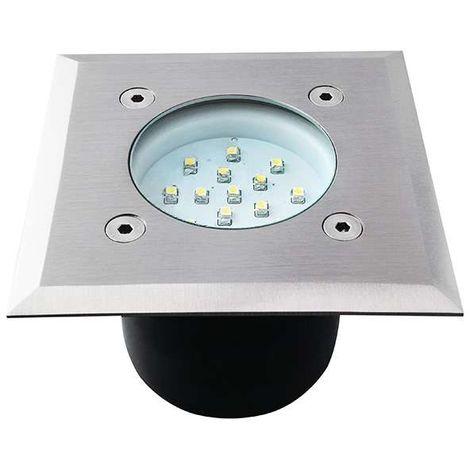 Borne LED encastrable sol 0,7W étanche carré | Blanc Froid (6400K)