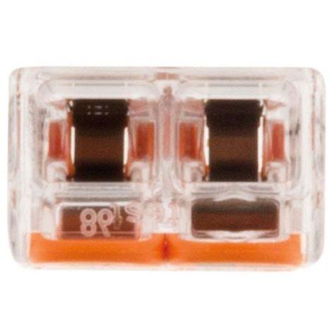 Assortiment de 60 mini bornes de connexion rapide /à levier S221 pour fils souples et rigides 25x 3 entr/ées 25x 2 entr/ées 10x 5entr/ées