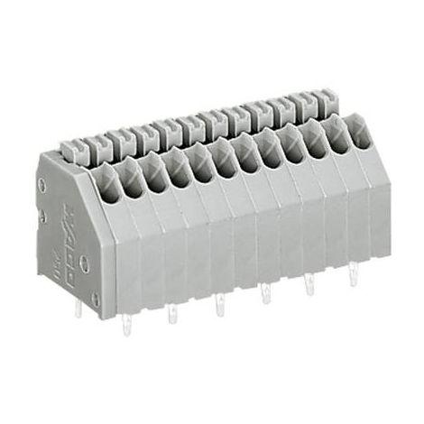 Bornier à ressort WAGO 250-408 0.50 mm² Nombre total de pôles 8 gris 1 pc(s)