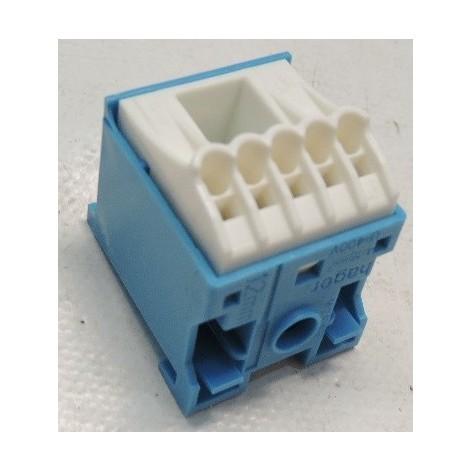 Bornier de raccordement neutre de coffret connexion fil auto SANVIS trou 5X4mm² + 1X25mm² HAGER KN06N