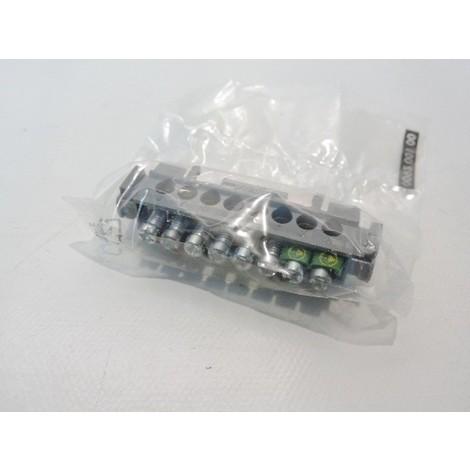 Bornier de répartition 75mm nu sur support gris 8 trous pour fil 1.5 à 16mm2 max LEGRAND 004822