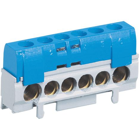 Bornier de répartition IP 2X - phase - 1 connexion 10 à 35 mm² - noir - L 62 mm