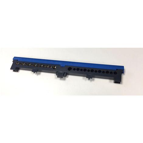 Bornier neutre additionnel 13 trous bleu - Debflex