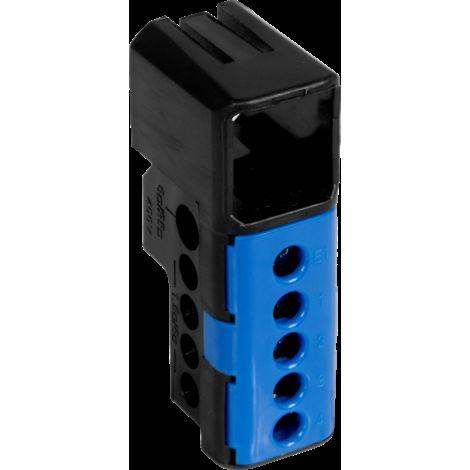 Bornier neutre bleu 5 trous - Debflex