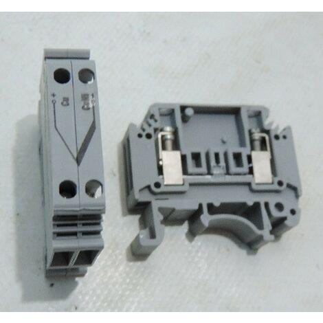 Bornier tension thermoélectrique gris (X2) fil souple 2.5mm² 1 étage 2 connexions raccord vis MTKD-CU/CUNI PHOENIX 3100059