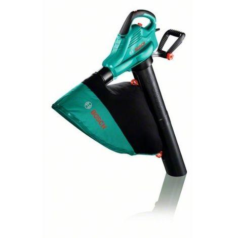 Bosch 06008A1000 Soplador ALS 25 Soplador aspirador triturador 2500W 300km/h 800 m3/h 3,2kg 4,4kg + Saco + cremallera 45l