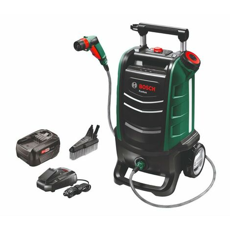 Bosch 06008B6000 Hidrolimpiadora a bateria FONTUS 18V 2,5Ah Presión 15bar Hasta 2,7l/min Tanque 15l Autonomía 45min