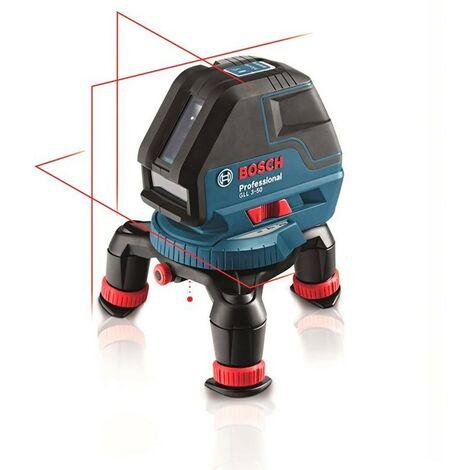 Bosch 0601063800 Nivel láser líneas autonivelantes GLL 3-50 P Professional Proyección horizontal + 2 verticales Plomada