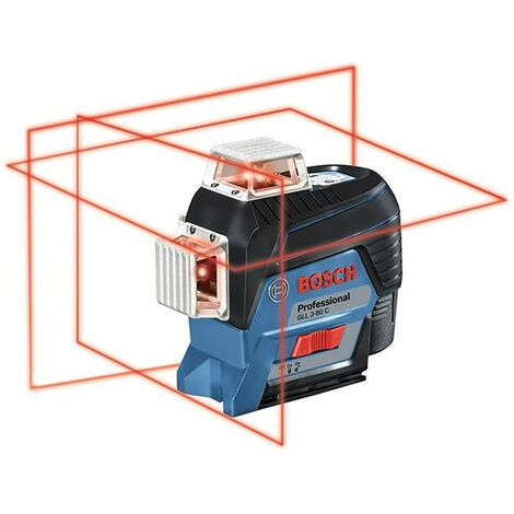 Bosch 0601063R02 Nivel láser líneas autonivelantes GLL 3-80 C Professional + BM1 3 planos 360° y 6 puntos Alcance 30m