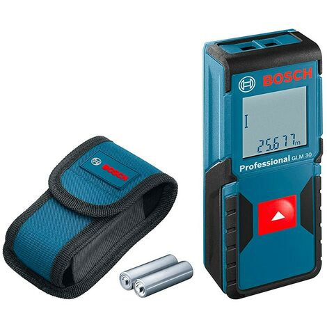 Bosch 0601072500 Medidor láser distancias GLM 30 Professional Alcance 30m Muy pequeño y compacto tan sólo 4x10cm