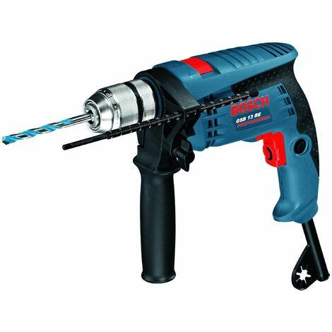 Bosch 0601217100 Taladro percutor GSB 13 RE Professional 600W Reversible Electrónico Portabrocas sujeción rápida