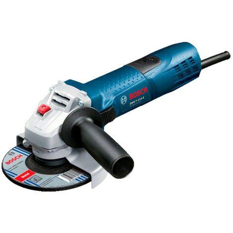 Bosch 0601388203 Miniamoladora GWS 7-115 E Professional 720W Regulación electrónica 2800-11000rpm Disco 115mm