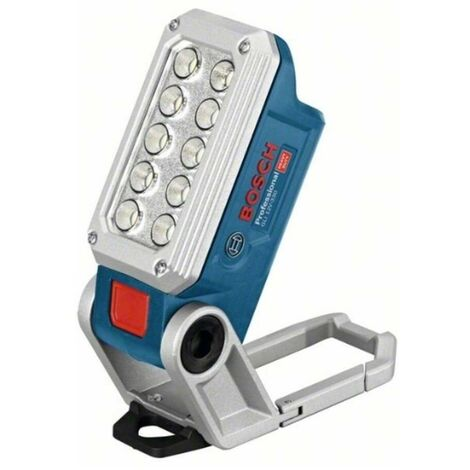 Bosch 06014A0000 Linterna GLI 12V-330 Professional 12V 13,9x5x6,8cm Autonomía 6h 7 ángulos posición 10 LEDs + 2 intensidades