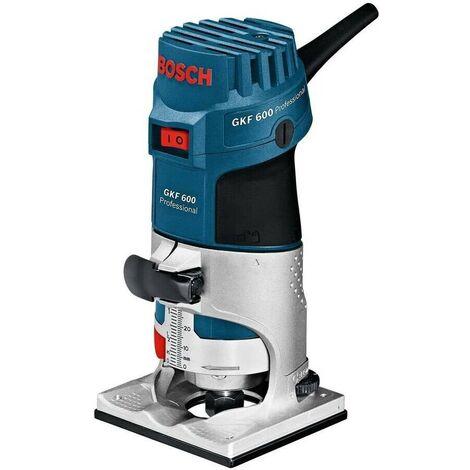 Bosch 060160A102 Fresadora de cantos GKF 600 Prof 600W Admisión fresas 6 y 8mm 33000rpm + L-Boxx