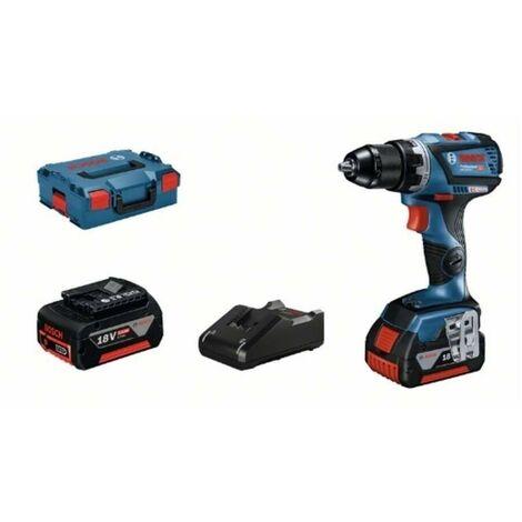 Bosch 06019G110D Taladro atornillador a batería GSR 18V-60 C + 2 baterías 5,0Ah + cargador GAL 18V-40 + L-Boxx 136