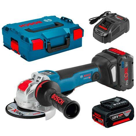 Bosch 06019G3F0D Miniamoladora batería GWS 18V-10 PSC Professional 18V CONNECTED MOTOR EC 125mm 4500-9000rpm KickBack