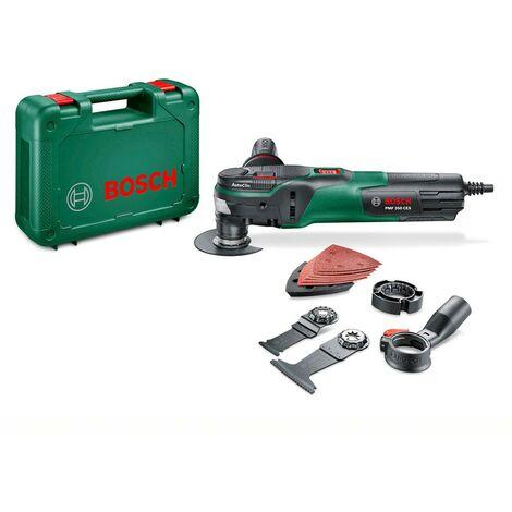 Bosch 0603102200 Multiherramienta PMF-350-CES 350W Electrónica constante 15000-20000rpm ángulo oscilación 2,8° + Maletín