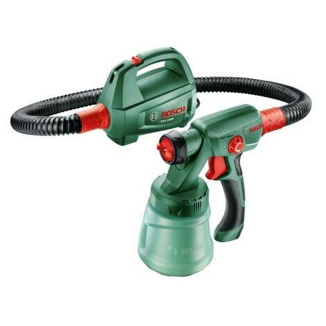 Bosch 0603207000 Pistola pulverización PFS 1000 410W Capacidad proyección 0 – 100ml/min Sistema EasySelect Manguera 1,25m