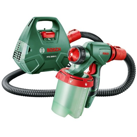Bosch 0603207100 Pistola pulverización fina PFS 3000-2 650W Capacidad proyección 0 – 300ml/min Aplicación pintura 2m² en 1min
