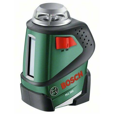 Bosch 0603663000 Nivel láser líneas PLL 360 Plano horizontal 360° y línea vertical Proyección cruzada y en ángulo Alcance 20m