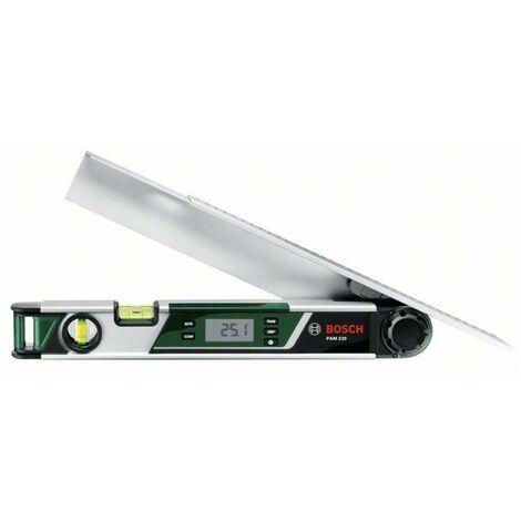 Bosch 0603676000 Medidor ángulos PAM 220 Digital Longitud 40cm Pantalla LCD 2 burbujas Función bloqueo Memoria Funda protecció