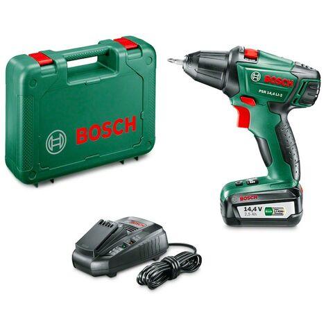Bosch 060397340N Atornillador + batería PSR 14,4 LI-2 14,4V 2,5Ah Dos velocidades Par giro 10 Luz trabajo max 40Nm