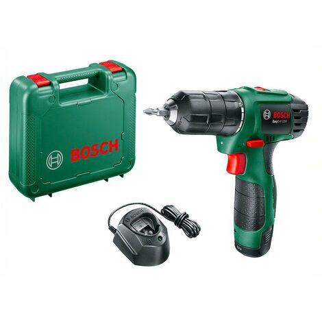Bosch 06039A210A Atornillador + batería EasyDrill 1200 12V Dos velocidades 11/20Nm Par giro 15+1 Compacto y ligero
